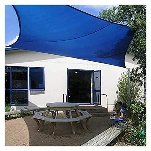 GAOYUY Toldo Vela De Sombra, Toldo con Protección Solar Resistente Al Agua PES Anillos En D De Acero Inoxidable 304 para El Patio del Jardín del Invernadero (Color : Blue, Size : 6x9m)