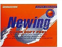 ブリヂストン(BRIDGESTONE) ゴルフボール ニューイング ニューイング スーパーソフトフィール ユニセックス NCOX スーパーオレンジ グラデーショナル・ソフトコア