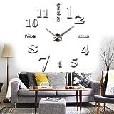 Yosoo Orologio da Parete Silenzioso Preciso 3D Moderno Adesivo Orologio Parete Decorativo Fai da Te, Wall Sticker Orologio Digitale Adesivi Wall Clock per Casa Ufficio Hotel Ristorante Ottimo Regalo