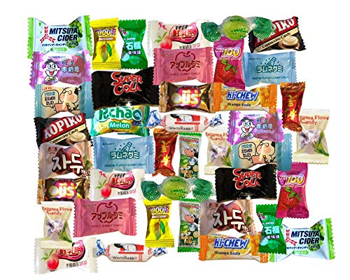 Asian Candy Dagashi Mystery Treat Box Variety Pack - 40 Pieces - CANDY ONLY - Japanese Candy, Chinese Candy, Vietnamese Candy, Korean Candy, etc