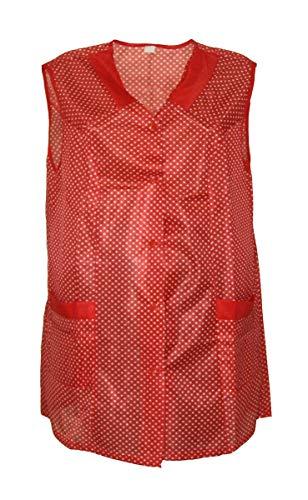 7/8 Kasack Kittel kurz Schürze Dederon Polyester, Farbe:rot, Größe:44