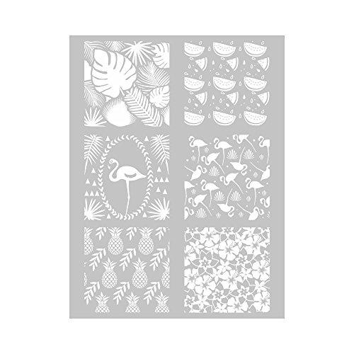 Silkscreen Ecran de Sérigraphie - Monstera, Flamant Rose, Ananas, Hibiscus