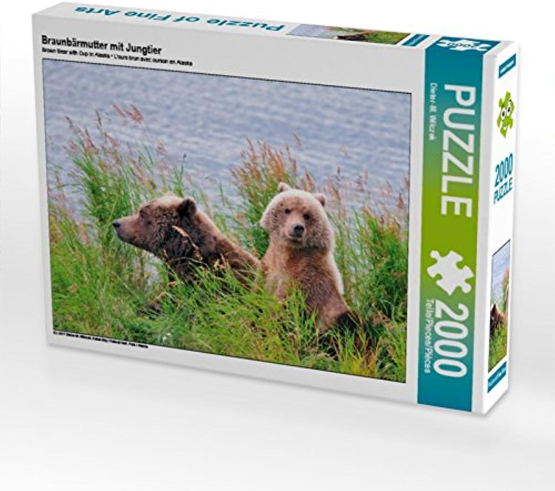 CALVENDO Puzzle Braunbärmutter mit Jungtier 2000 Teile Lege-Größe 90 x 67 cm Foto-Puzzle Bild von Dieter-M. Wilczek B075B7QT9N Zuverlässige Qualität | Erste in seiner Klasse