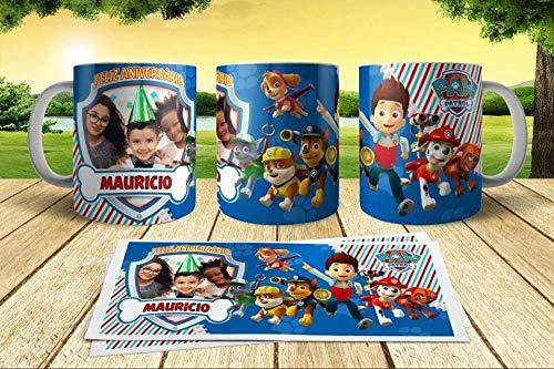 Taza patrulla canina personajes cumpleaños niños 350ml