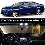 2012 Acura TSX License Plate Light Bulbs - 2009- 2014 Fit Acura TSX Interior White LED Kit + License Plate (Complete 15PC Light Bulb Set) (3 Dome/ Map, 4 Vanity, 4 Door/ Courtesy, 2 Trunk, 2 License Tag) Sedan & Wagon -2010, 2011, 2012, 2013