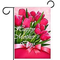 ウェルカムガーデンフラッグ(12x18inch)両面垂直ヤード屋外装飾,幸せな母の日