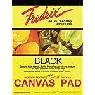 Tara Materials Fredrix 12x16 Black Canvas Pad 10 Sheets, 12 x 16 Inches