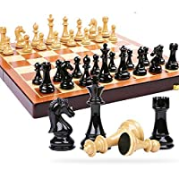 Chess go International chess High-grade Plastic Chess Set International Chess Game Gift Folding Wooden Chessboard Abs Plastic Steel Chess Pieces Chessman(レジャーパズルエンターテインメント)