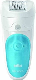 Braun 5-511 DEPILADORA SILK-ÉPIL 5 WET&DRY, 1 W, 1 Liter, 1 Decibelios, Plastic, 2 Velocidades, Turquesa, Blanco