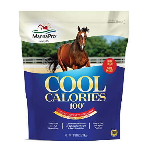 Manna Pro Cool Calories 100 | Equine Dry Fat Supplement for Healthy Weight Gain | 8 Pounds