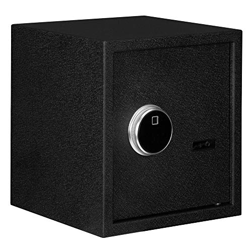 """Fingerprint + Touch Screen Digital Keypad Lock Steel Security Home Office Fireproof and Waterproof Confidential File Cabinet Safe Lock Box can store various valuables 13x13x14.2"""""""