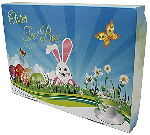 Oster Tee-Box, Ostern Geschenk - tolle Box mit 8 zauberhaften Teesorten á 50g (Osterkarton)