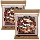 Ernie Ball Extra Slinky Saiten Akkustikgitarre 10-50 (, 2 Packungen)