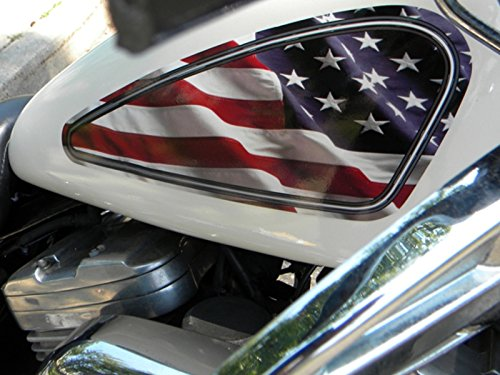 East Coast Vinyl Werkz - American Flag 2 pc- Fuel Tank Decals for Harley Davidson Sportster