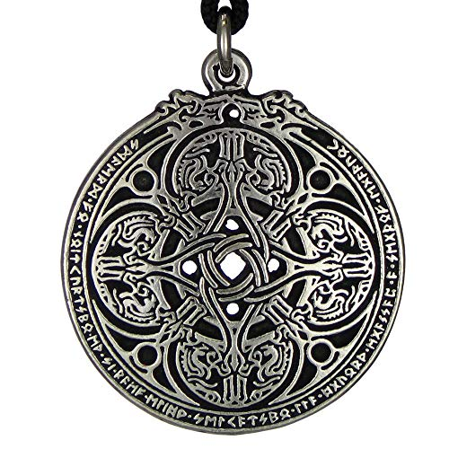 Pewter Dragon Shield Celtic Knot Pendant Talisman for Soldiers and Military Members