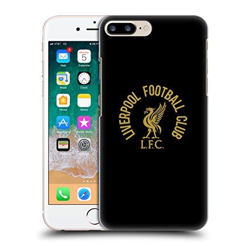 Oficial Liverpool Football Club Oro LFC En Negro Pájaro Hígado Carcasa rígida Compatible con Apple iPhone 7 Plus/iPhone 8 Plus