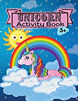Unicorn Activity Book Children Activity Coloring Book Dot Markers Activity Book for Kids Ages 3 4-8 Mazes Workbook for Girls and Boys Game For Learning