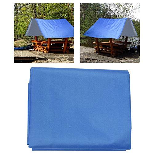 Astibym Toldo de Techo de Tela Plateada de tafetán de poliéster 190T para Patios y Jardines(Blue)