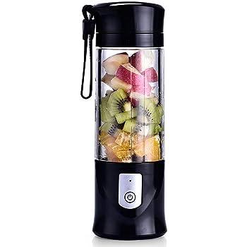 Portable Mixeur des Fruits rechargeable USB,Mini Blender Pour Smoothie, Milk shake,Jus de fruits,Masque facial,Blender Portable 350 420ml 6 Lames pour