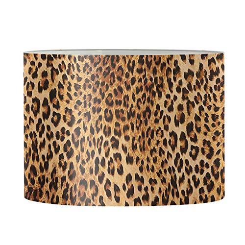 Showudesigns Tulipas redondas pequeñas de lámpara con impresión de leopardo, cubierta de luz de suelo, cubierta de araña de tapa dura para sala de estar o dormitorio decorativo