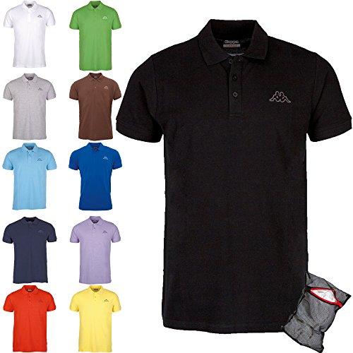 Kappa Herren Poloshirt Ziatec Edition mit Praktischem Wäschenetz 1er bis 6er Packs in Vielen Farben verfügbar, Größe:XXL, Farbe:6 x Farbmix