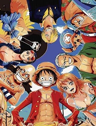 Malen Nach Zahlen Anime One Piece Ruffy Bild Anfänger Ölgemälde Wanddekoration 40X50Cm Rahmenlos