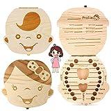 texto bebé dientes caja, NALCY 2 Paquete save cajas de madera personalizada caja de...