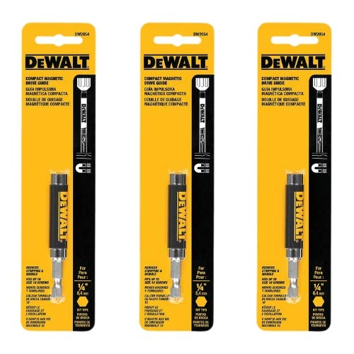 DEWALT DW2054 1/4-Inch Compact Magnetic Drive Guide (3 PACK)