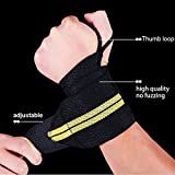grofitness Gewichtheben Wrist Wraps Daumen Grip Wrist Support Training Lifting Straps, 1 Paar