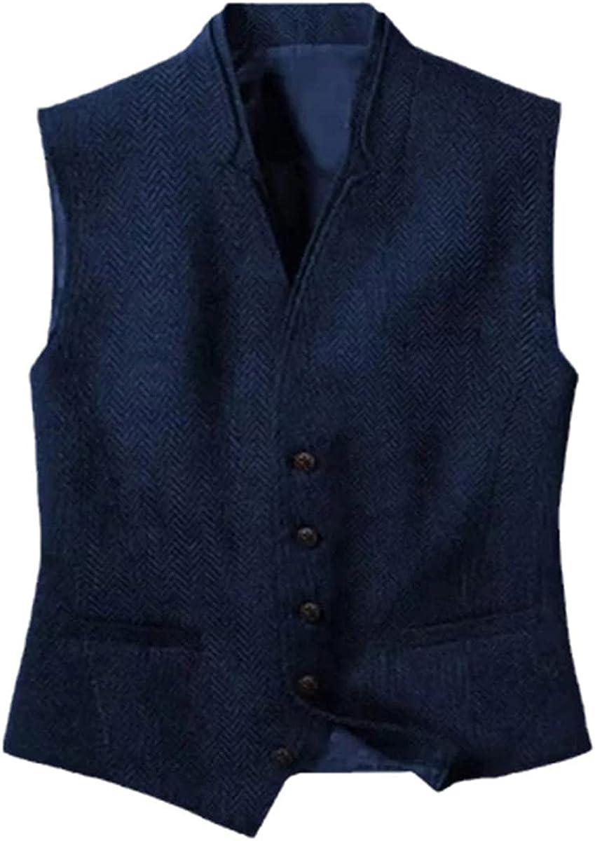 Men's vest business suit vest steampunk black vest