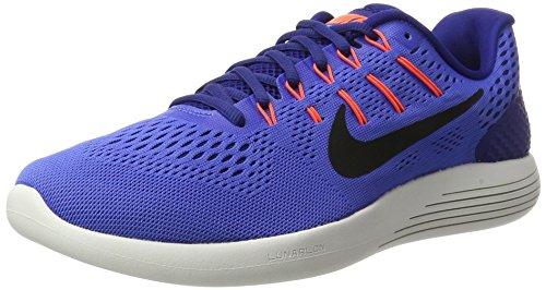 Nike Lunarglide 8, Zapatillas de Running para Hombre, Azul (Medium Blau/Tief Königsblau/Hyper Orange/Schwarz), 42.5 EU