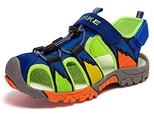 Zapatillas de Deporte al Aire Libre Sandalias del niño de Verano Playa Piscina Las Zapatillas de Deporte(Niño/Niño pequeño/Niños grandes-Azul-32)