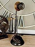 Deco 79 13' Vintage Iron Candlestick Decor Metal Antique Phone, One Size
