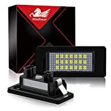 WinPower LED Éclairage plaque immatriculation auto ampoules super brillant CanBus Pas d'erreur 6000K xénon blanc froid 18 SMD Feux arrière pour E39/E46/E60/E70/E90/E91/E92/E93/F10 ect, 2 Pièces