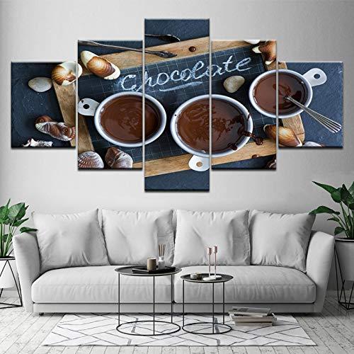JYXJJKK 5 mural de pintura mural 200 * 100 CM solo lienzo Tablero de café negro Baño Hogar Bar Oficina Café Navidad Dar gracias Amigos Familia Regalos de vacaciones Regalos de Año Nuevo