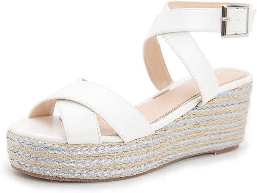 OcaseQ Super sale period limited Genuine Womens Wedge Platform Sandals San Summer Leather Toe Open
