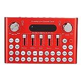 Voice Changer 4.1 Sound Track USB Karaoke Tuning Sound Card, Red Shell in Lega di Alluminio Scheda Audio Live per Computer Cellulare Live Streaming