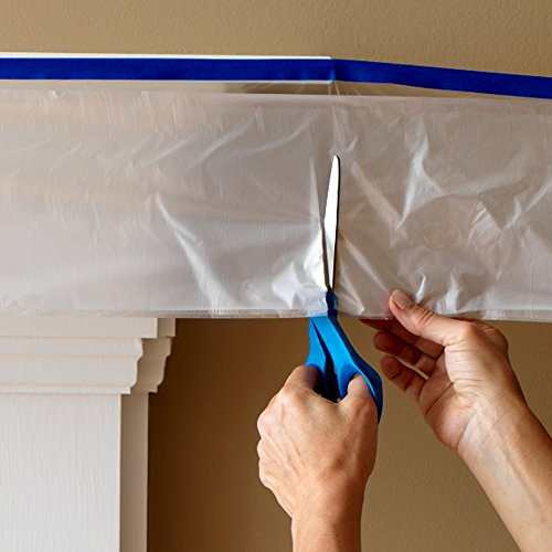 C&S Pretaped Drop Cloth 72 in x 90 ft with 24mm Blue Masking Tape, 6 Roll Package Photo #4