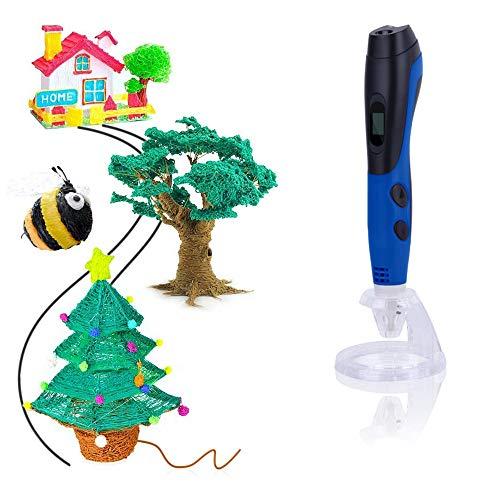 MLYWD 3D-printerpen voor kinderen, graffiti-functie op lage temperatuur, compatibel met Pclfilamenten met led-scherm, geschikt voor alle volwassenen kinderen, veilig en eenvoudig te bedienen