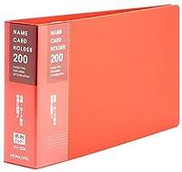 コクヨ 名刺入れ 替紙式 34枚 204名 赤 メイ-20R Japan