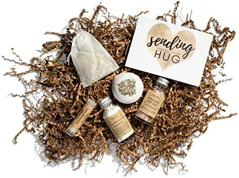 Gift Box for Women with Card Spa Self Care Package Organic Relaxation Set Womens Stress Relief product image