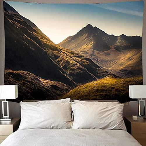 Hermosa montaña ondulada bosque lago paisaje tapiz arte psicodélico colgante de pared toalla de playa mandala tela de fondo A3 180x200cm