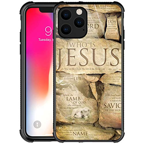 iPhone 11 Case,Christian Faith Jesus iPhone 11 Cases for Girls Boys,Customesize Pattern Design Shockproof Anti-Scratch Hard PC Back Case for Apple iPhone 11