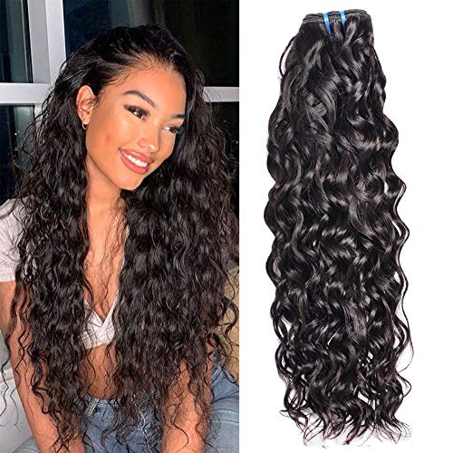 Brazilian Water Wave Only 22 inch,MSGEMWater Wave Hair Bundle Wet And Wavy Human Virgin Hair Natural Color 100% Unprocessed Soft And Silky