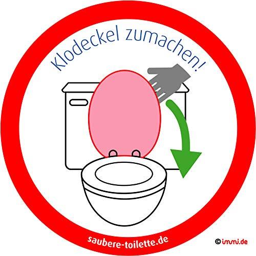 immi 4St. Klodeckel runter, Saubere Toilette/WC Aufkl, 95mm, Hygiene Aufkleber