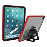 Catalyst Waterproof iPad Case for iPad Pro 12.9' 2018 Waterproof 6.6 ft - Full Body Protection, Heavy Duty Drop Proof 4ft, Kickstand, True Acoustic Sound Technology, Built-in Screen Protector - Red