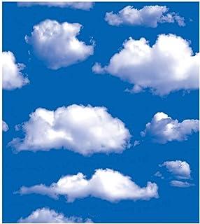 雑貨の国のアリス シール キッチン 張り替え 壁紙 45cm×10m おしゃれ クロス diy リフォーム はがせる 洗面所 補修 アクセント トイレ 部屋 (青い空と白い雲) [並行輸入品]