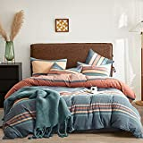 Joyreap 7 Piece Bed in a Bag Gray, Luxury Washed Cotton Bedding Set Comforter Set for All Season- Full/Queen Size- 1 Comforter, 2 Pillow Shams, 1 Flat Sheet, 1 Fitted Sheet, 2 Pillowcases