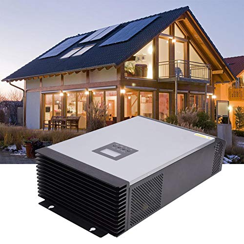 Multi-Function Hybrid Inverter, MPS-5K 5KVA 4000W Photovoltaic Solar Hybrid Pure Sine Wave Inverter Battery Charger off-grid Power Converter Power Supply Inverter with 60A 48V MPPT Controller for Home