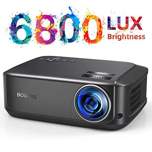 Beamer, Native 1080P Full HD Video Beamer, 6800 Lumen 300